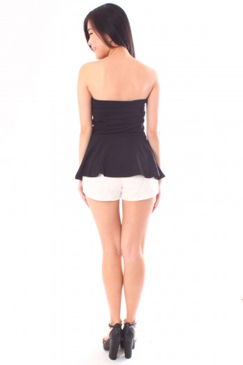 Sweetheart Tube Peplum Top