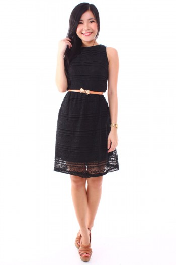 Tier Lace Cut-In Dress