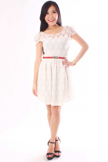 Crochet Lace Sweetheart Dress