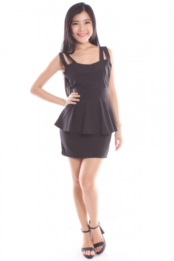 Strappy Peplum Dress