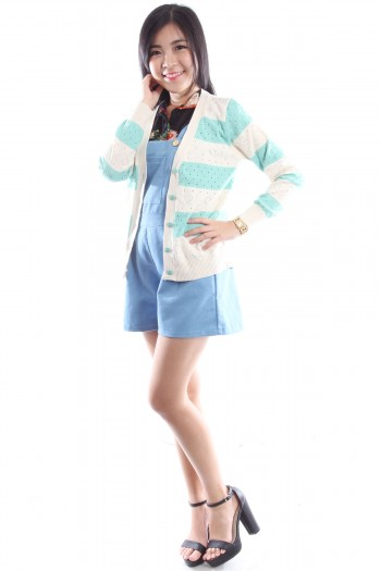 Striped Hearts Cardigan
