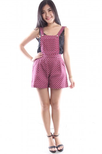 Heart Print Dungaree