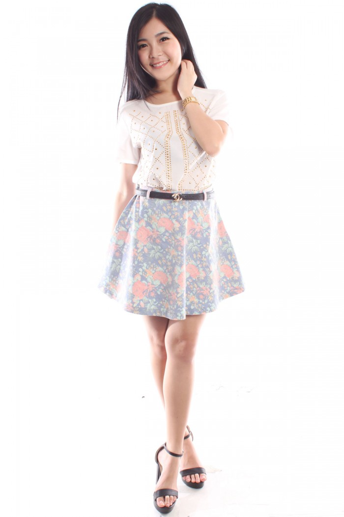 Faded Denim Skirt | Fashion Skirts