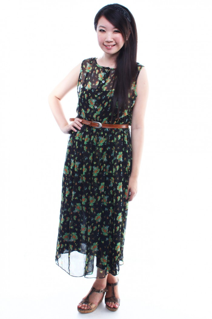 Vintage - Maxi Dress - The Label Junkie