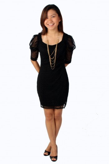 Love lace structured dress