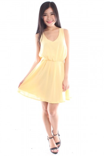 Reversible Chiffon Pleated Dress