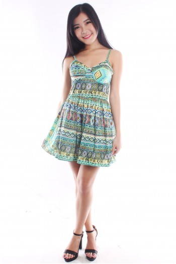 Aztec Bustier Dress
