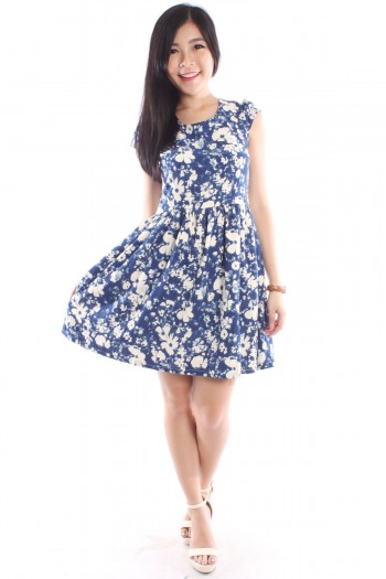 Watercolour Floral Skater Dress