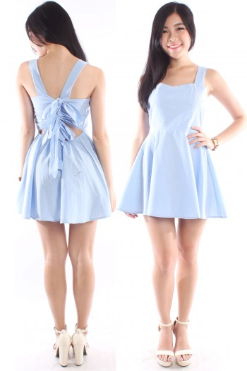 Denim Bow Back Dress