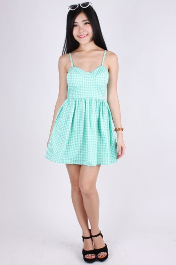 Houndstooth Bustier Dress