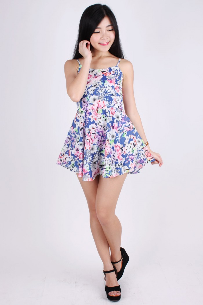 sakura skirt romper the label junkie