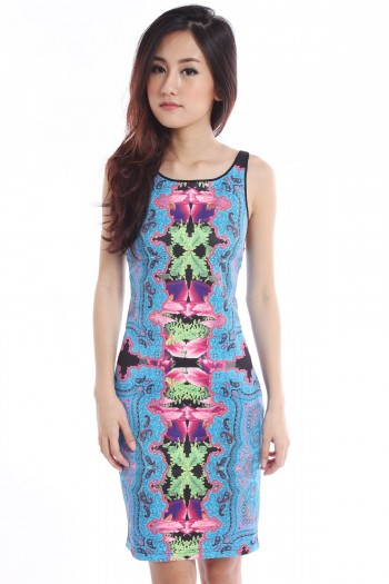 Abstract Bodycon Dress