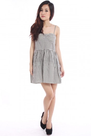 Checkered Bustier Dress