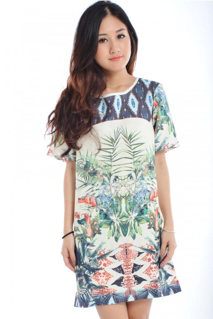 Zara Inspired Tropical Dress Bo The Label Junkie
