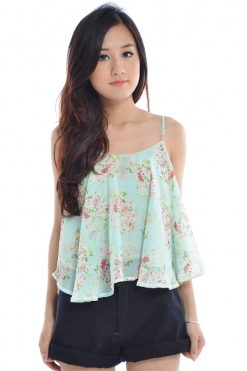 Reversible Floral Criss-Cross Top