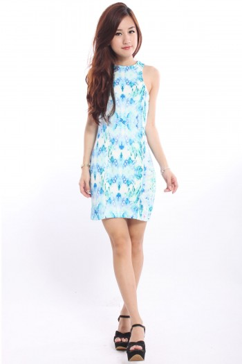 Pastel Watercolour Abstract Dress