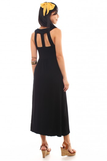 Cut-Out Back Maxi Dress
