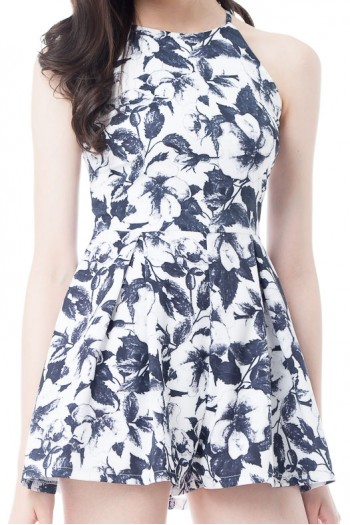 *Premium* Pleated Floral Romper