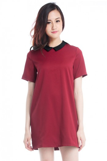 *Premium* Collar Shift Dress