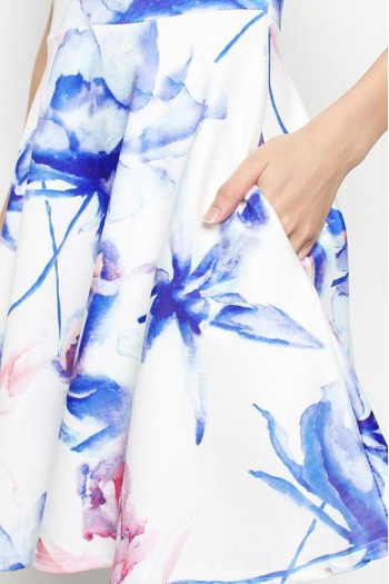 Abstract Watercolour Skater Dress