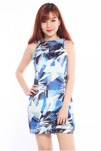Geometric Abstract Shift Dress
