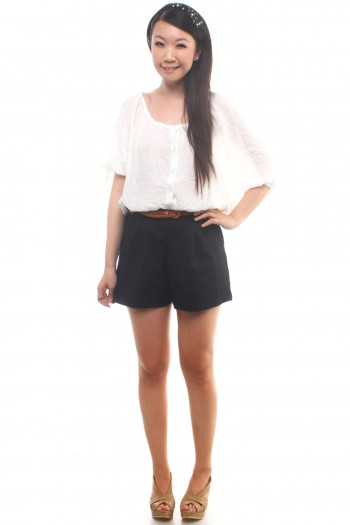 Shorts with Bow Belt Loop