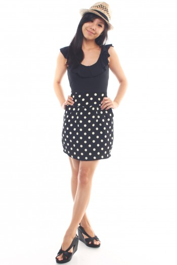 Bow Back Polka Dot Dress