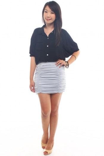 Ruched Bandage skirt