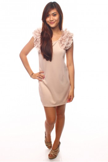 Ruffled Shift Dress