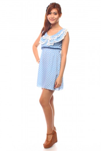 Peterpan Lace Polkadot Dress