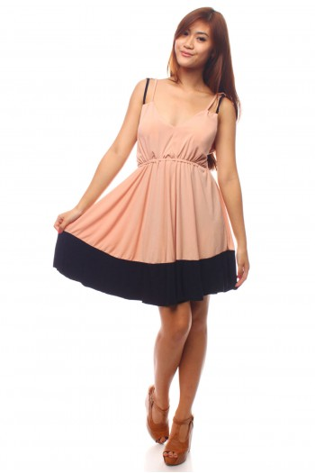 Tie Back Colourblock Dress