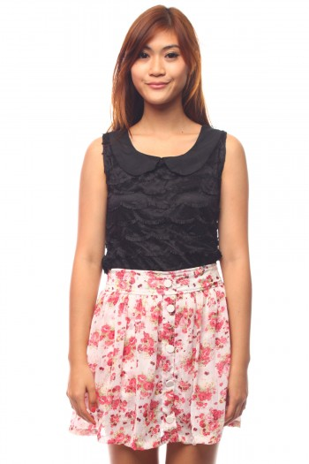 Peterpan Lace Scallop Top