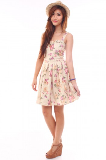 Sweetheart Floral Dress