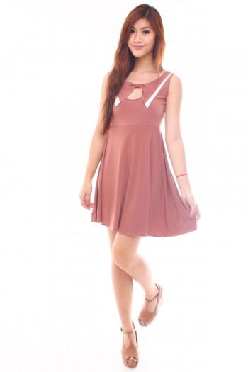 Bow Bib Skater Dress