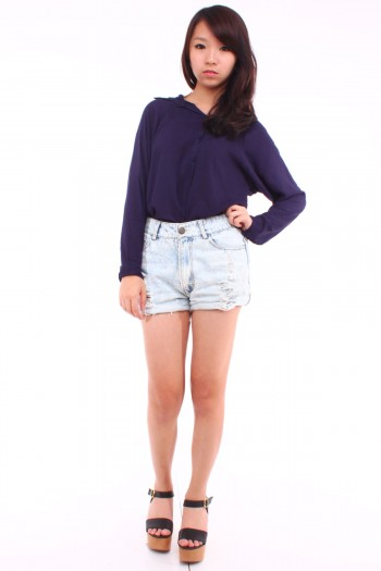 Lace Panel Long Sleeves Shirt