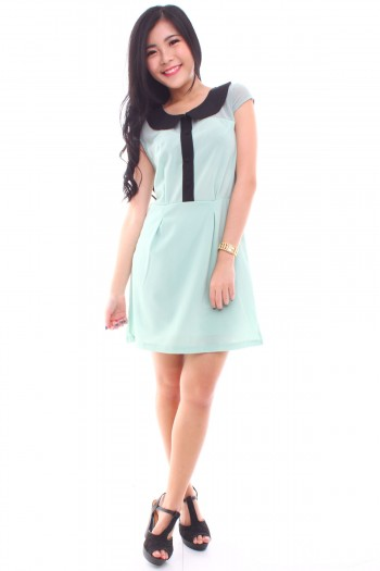 Peterpan Collar Button Dress