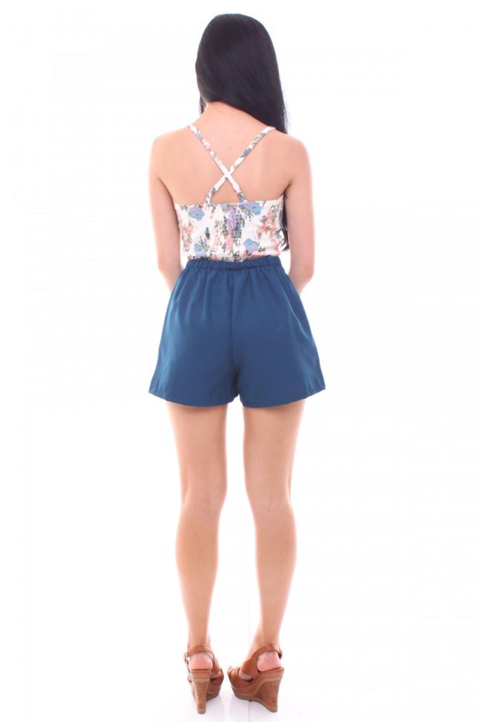 Scallop Pockets High Waist Shorts - The Label Junkie