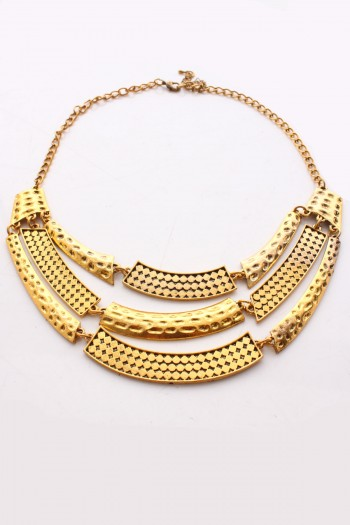 Tri Plated Tier Necklace