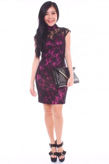 Lace Cheongsam Dress