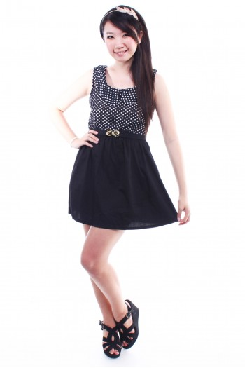 Polkadot Peterpan Collar Dress