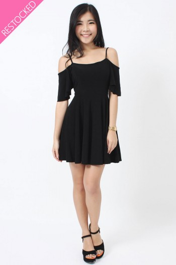 Slit Sleeves Skater Dress