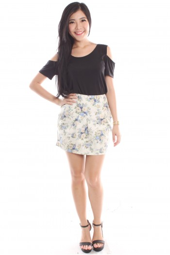 Floral High Waist Tulip Skirt