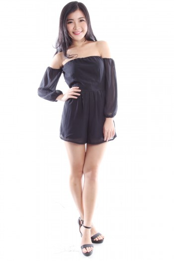 Drop Shoulder Romper