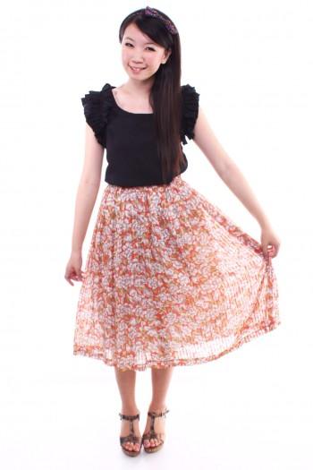 Vintage - Floral Skirt