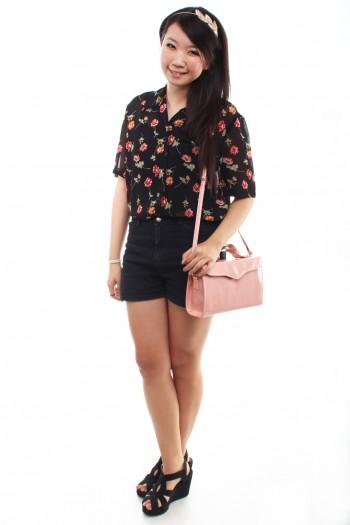 Vintage - Floral Chiffon Shirt