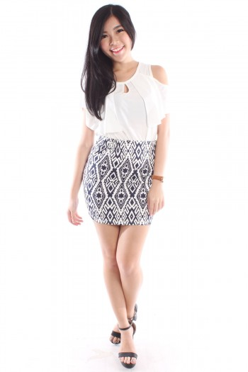 Baroque Print Skirt