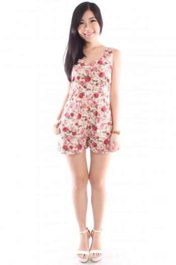 Sweetheart Floral Romper