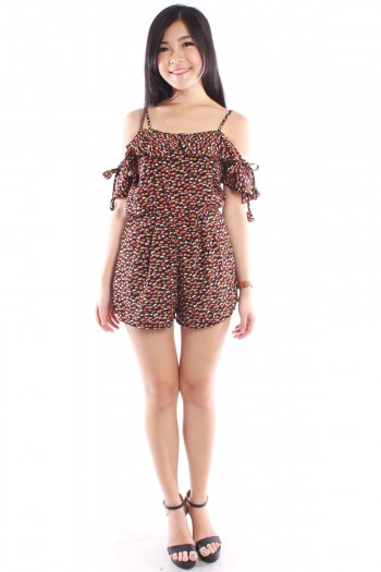 Floral Off Shoulder Playsuit
