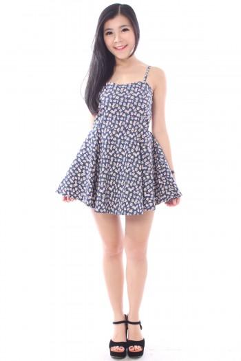 Floral Skirt Romper