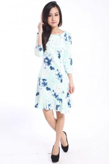 Zara-Inspired Floral Trumpet Dress